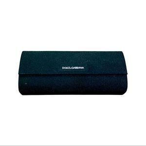 Dolce & Gabbana black fabric glasses case